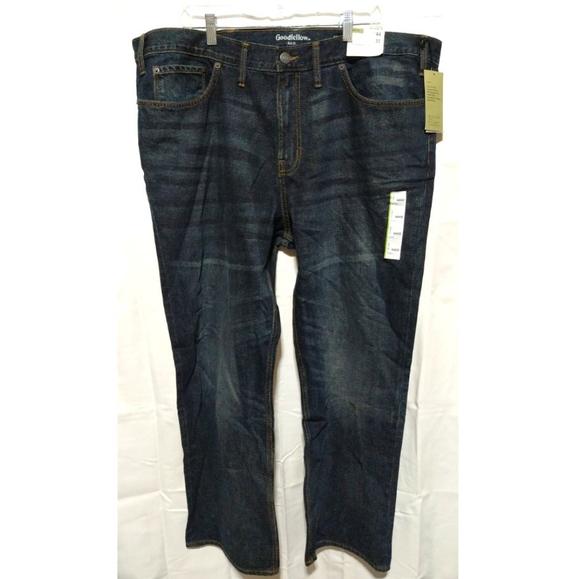 GOODFELLOW & CO. 44X32 Blue Straight Denim Jeans